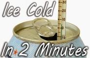 Πώς να παγώσετε ένα αναψυκτικό σε 2′