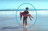 Έβγαλε κοπέλα που πνιγόταν απ'τη θάλασσα