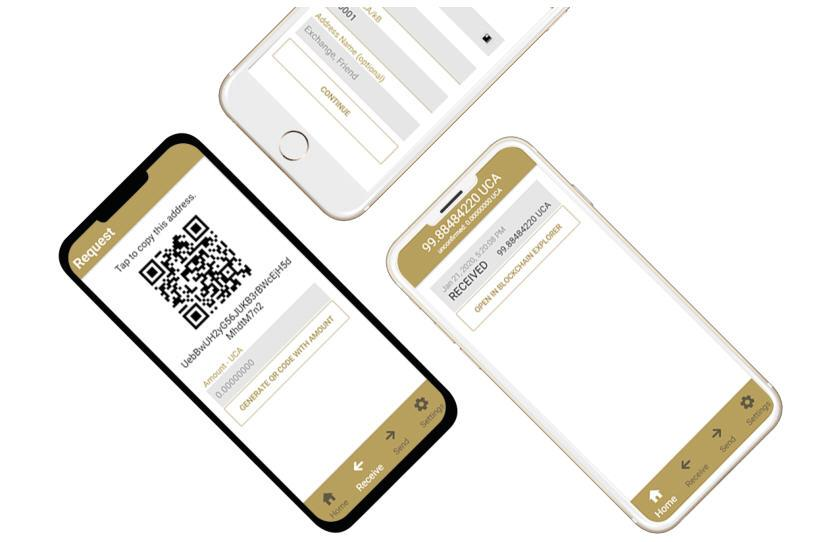 UCA Coin Mobile Wallet
